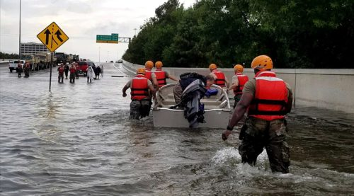 Soldiers with the Texas Army National Guard support local authorities in response to the storm.